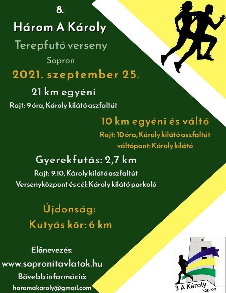 8. Három a Károly Terepfutó verseny Sopron (2021-09-25)